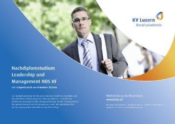 Nachdiplomstudium Leadership und Management NDS ... - KV Luzern