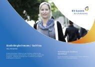 Detailbroschüre Marketingfachleute - KV Bildungsgruppe Schweiz