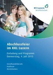 Abschlussfeier im KKL Luzern - KV Luzern