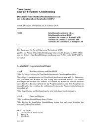 Verordnung über die berufliche Grundbildung