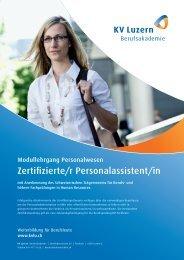 Zertifizierte/r Personalassistent/in - KV Luzern