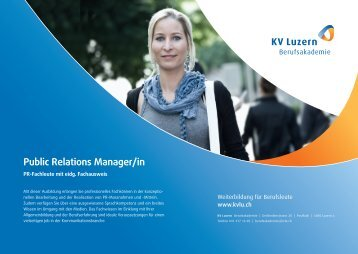 Public Relations Manager/in - KV Luzern