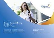 Detailbroschüre HR plus - KV Bildungsgruppe Schweiz