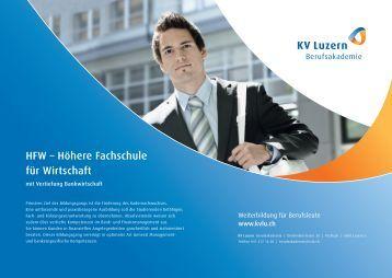 HFW – Höhere Fachschule für Wirtschaft - KV Luzern