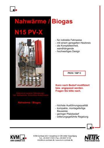 Nahwärme / Biogas N15 PV-X - KVM-Conheat