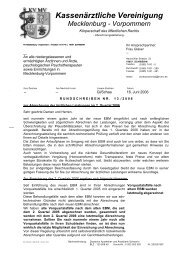 Rundschreiben Nr. 13/2006 - Kassenärztliche Vereinigung ...