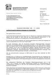 Rundschreiben Nr . 11/2009 - Kassenärztliche Vereinigung ...