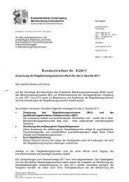 Rundschreiben Nr. 6/2011 - Kassenärztliche Vereinigung ...