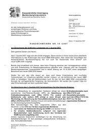 RUNDSCHREIBEN NR. 16/2007 - Kassenärztliche Vereinigung ...