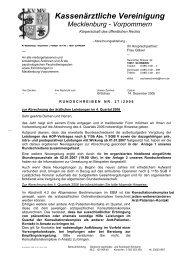Rundschreiben Nr. 27/06 - Kassenärztliche Vereinigung ...