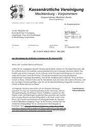 Rundschreiben Nr. 12/01 - Kassenärztliche Vereinigung ...