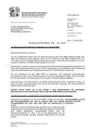 Rundschreiben Nr. 20/2007 - Kassenärztliche Vereinigung ...