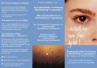 Flyer zum Mammographie-Screening in MV (pdf-Datei (367kB)