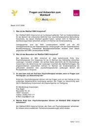 Fragen und Antworten zum Wahltarif BKK Arzt privat