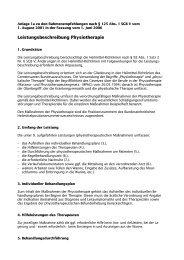 Leistungsbeschreibung Physiotherapie - GKV-Spitzenverband