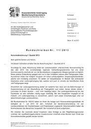 Rundschreiben Nr. 11/2013 - Kassenärztliche Vereinigung ...