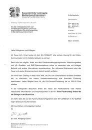KV-CONNECT Förderantrag für Mitglieder der KVMV - Oktober 2013