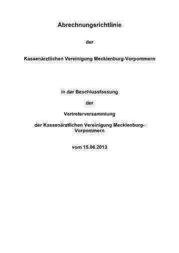60 kB - Kassenärztliche Vereinigung Mecklenburg-Vorpommern
