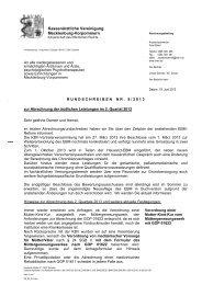 Rundschreiben Nr. 08/2013 - Kassenärztliche Vereinigung ...