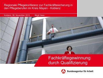 Fördermöglichkeiten der Arbeitsagentur Koblenz-Mayen