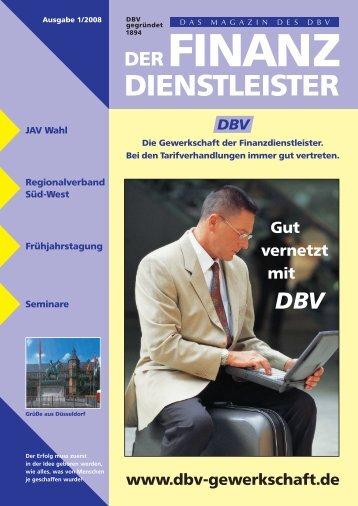 Die Gewerkschaft der Finanzdienstleister. - DBV