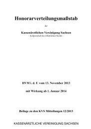 HVM (i.d.F.v. 13.11.2013) - Kassenärztliche Vereinigung Sachsen
