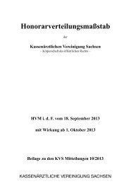 HVM - Kassenärztliche Vereinigung Sachsen