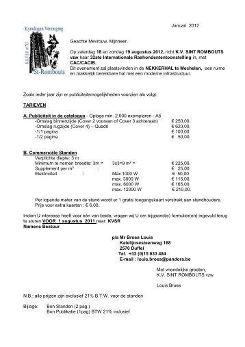 Januari 2012 Geachte Mevrouw, Mijnheer, Op zaterdag 18 ... - KVSR