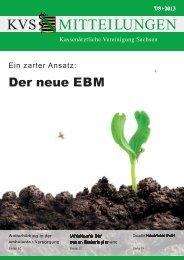 Der neue EBM - Kassenärztliche Vereinigung Sachsen