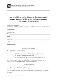 Antrag auf Förderung - Kassenärztliche Vereinigung Sachsen