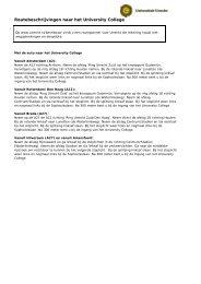 Routebeschrijvingen naar het University College