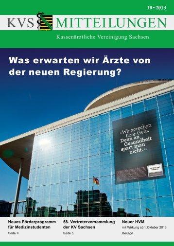 10 • 2013 - Kassenärztliche Vereinigung Sachsen