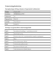 Undervisningsbeskrivelse - KVUC