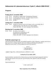 Velkommen til Laboratoriekursus i fysik C, forr 2008 KVUC