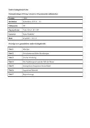 Undervisningsbeskrivelse Stamoplysninger til brug ved ... - KVUC