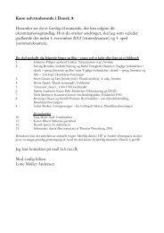 Kære selvstuderende i Dansk A Herunder ser du et forslag ... - KVUC