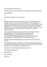 Kære Selvstuderende i Billedkunst C på hf Venlig hilsen ... - KVUC