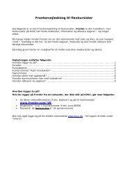 Download vejledning til Fronter her - KVUC