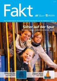 Sicher auf der Spur - Kasseler Verkehrs- und Versorgungs-GmbH