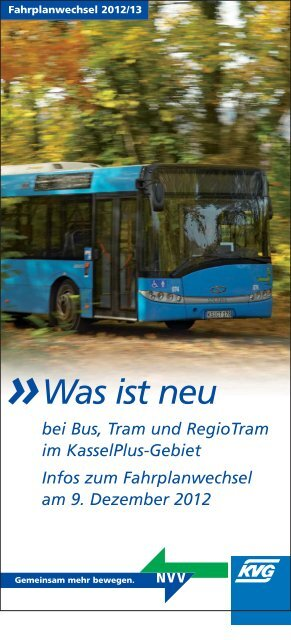 Was ist neu bei Bus, Tram und RegioTram im KasselPlus-Gebiet