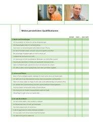Checkliste meiner Qualifikationen