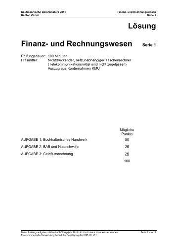 Lösung Finanz- und Rechnungswesen Serie 1