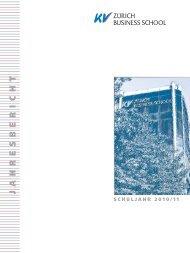Jahresbericht 2010-11.pdf - KV Zürich Business School