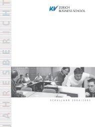Jahresbericht 2004-05.pdf - KV Zürich Business School