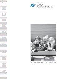 Jahresbericht 2009-10.pdf - KV Zürich Business School