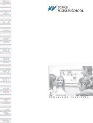 Jahresbericht 2003 - 2004 - KV Zürich Business School
