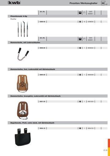 98 Pinzetten/Werkzeughalter - kwb
