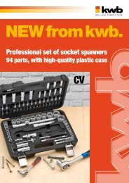Professional set of socket spanners