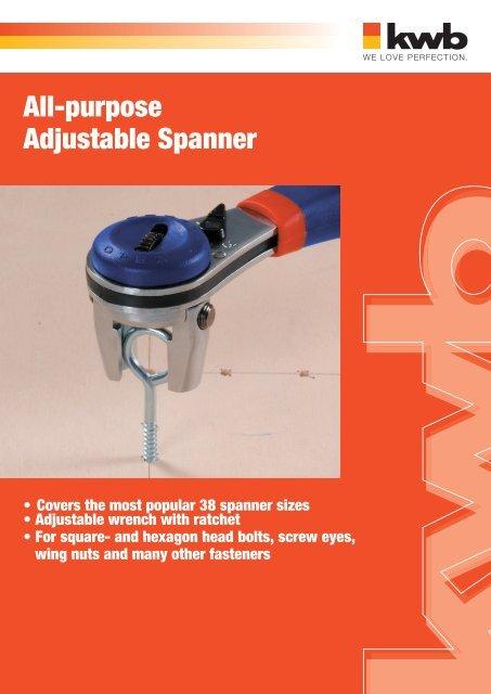 All-purpose Adjustable Spanner - kwb