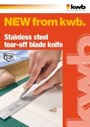 Stainless steel tear-off blade knife - kwb